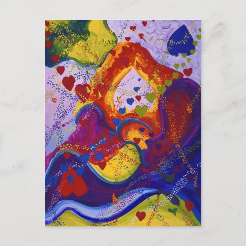 The Power of Love, Underground, Hearts, Abstract Postcard
