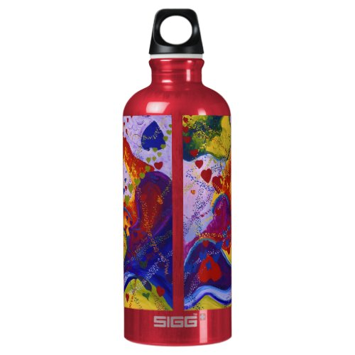 The Power of Love, Underground, Hearts, Abstract Water Bottle