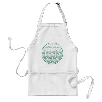 The power of positive words adult apron