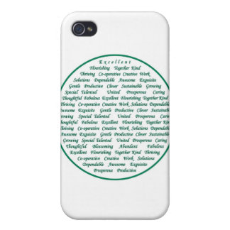 The power of positive words iPhone 4 cover