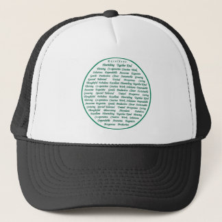 The power of positive words trucker hat