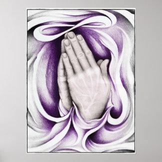 "The Power of Prayer: Purple 18"" x 24"" Poster"