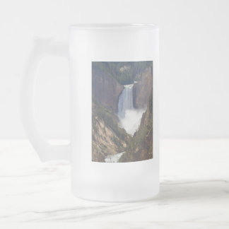 The Power Of Yellowstone Frosted Glass Beer Mug