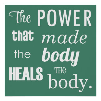 The Power That Made The Body Chiropractic Poster