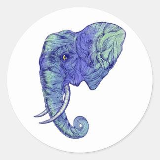THE POWERFUL ELEPHANT CLASSIC ROUND STICKER