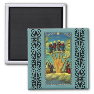 The Powerful Hand (Mano Poderosa ) 2 Inch Square Magnet