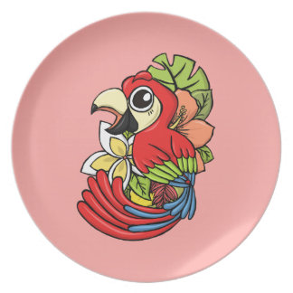 The Powerful Parrot Dinner Plate