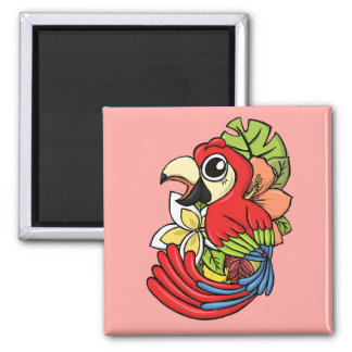 The Powerful Parrot Refrigerator Magnets