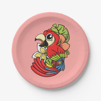 The Powerful Parrot Paper Plate