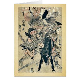 The powerful Tomoe Gozen by Katsukawa, Shuntei Uki Card