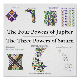 The Powers of Jupiter and Saturn Poster