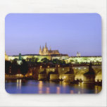 The Prague Castle and the Charles Bridge at Dusk Mousepad