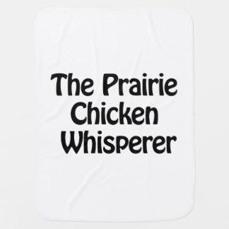 the prairie chicken whisperer baby blankets