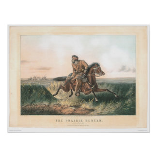 """The Prairie Hunter: """"One Rubbed Out!"""" (1364A) Print"""