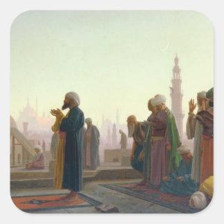 The Prayer, 1865 Square Sticker