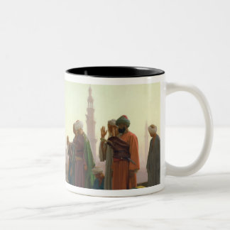 The Prayer, 1865 Two-Tone Coffee Mug