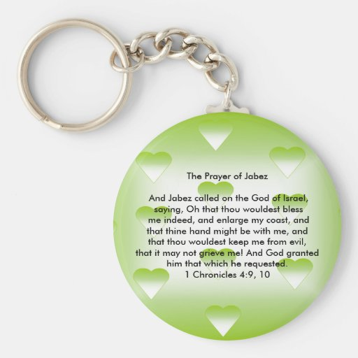 The Prayer of Jabez Basic Round Button Keychain