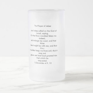 The Prayer of Jabez Frosted Glass Beer Mug