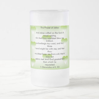 The Prayer of Jabez 16 Oz Frosted Glass Beer Mug