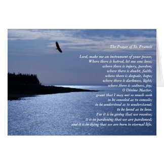 The Prayer of St Francis Greeting Card