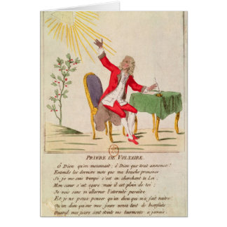 The Prayer of Voltaire Greeting Card