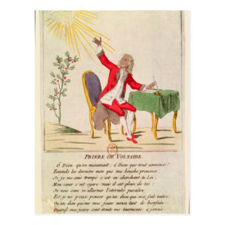 The Prayer of Voltaire Postcard