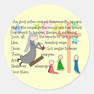 """The Praying Nun""  Story Art Gifts Sticker"