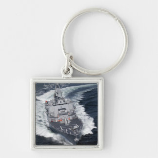 The Pre-Commissioning Unit Jason Dunham Silver-Colored Square Keychain