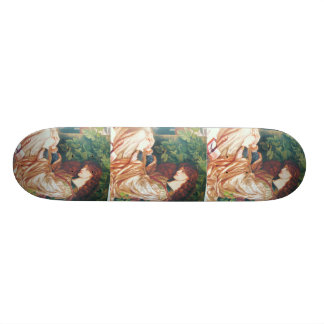 The Pre-Raphaelite Women Painting Skateboard