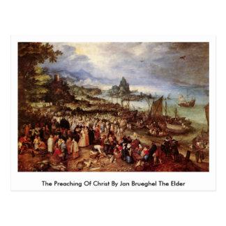 The Preaching Of Christ By Jan Brueghel The Elder Post Card