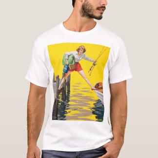 The Predicament 1955 Pin Up Art T-Shirt
