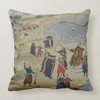 The predicted Fall of Constantinople from the Pic Throw Pillows