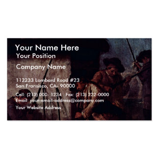 """The Preparation Of The Guns"""" By Longhi Pietro Business Card Templates"""
