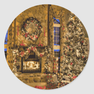 The Presence of Christmas Joy Classic Round Sticker