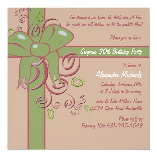 The Present - Birthday Party Invitation
