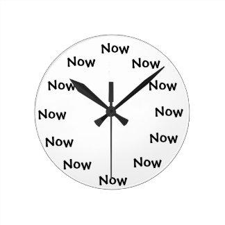 "The Present monment... ""NOW"" Round Clock"