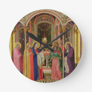 The Presentation in the Temple, 1342 (tempera on p Round Wallclock