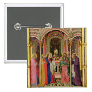 The Presentation in the Temple, 1342 (tempera on p Pinback Button