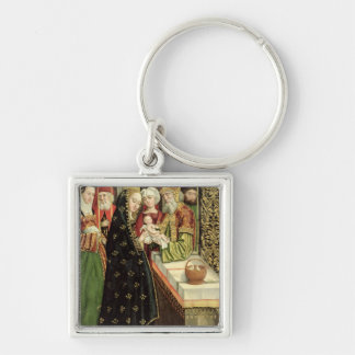 The Presentation in the Temple Silver-Colored Square Keychain