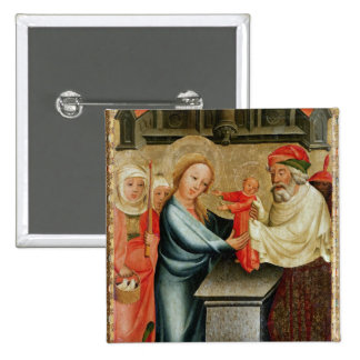 The Presentation of Christ in the Temple 2 Inch Square Button