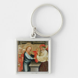 The Presentation of Christ in the Temple Silver-Colored Square Keychain