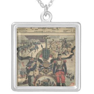 The Presentation of The Medal of Combatants Silver Plated Necklace