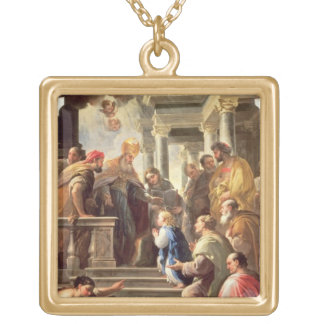 The Presentation of the Virgin at the Temple (oil Custom Necklace