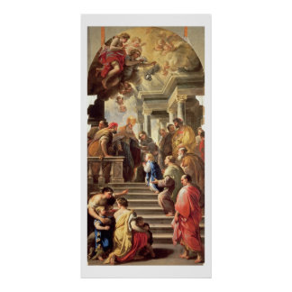 The Presentation of the Virgin at the Temple (oil Poster