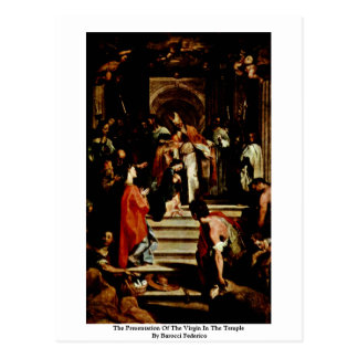 The Presentation Of The Virgin In The Temple Post Cards
