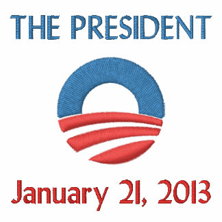 The President 1/21/13 Embroidered Polo Shirts
