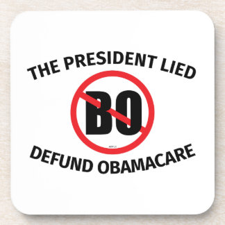 The President Lied Drink Coaster