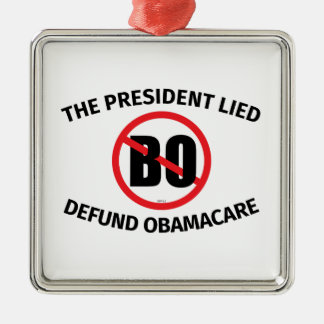 The President Lied Metal Ornament