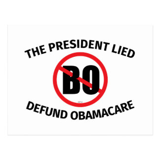 The President Lied Postcard