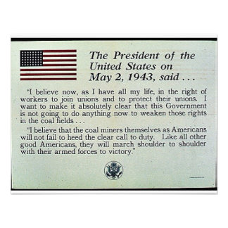 The President Of The United States On May 2 1943 Personalized Invite